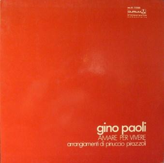 GINO PAOLI - Amare per vivere - LP